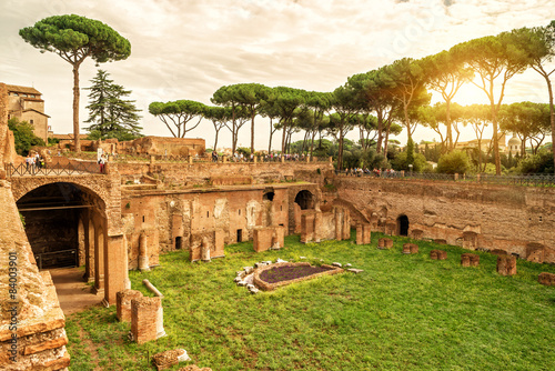 Fotografie, Obraz  The ruins of the stadium of Domitian in Rome