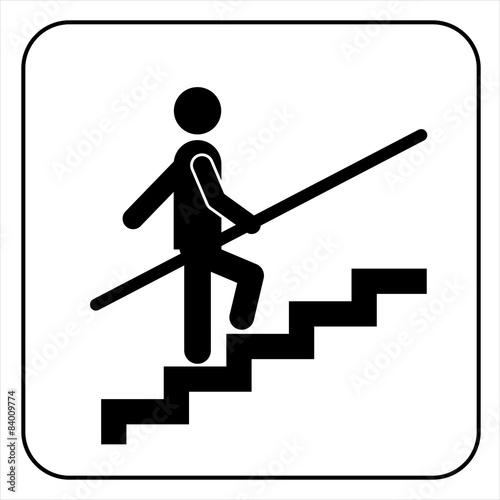 Obraz na płótnie Use Handrail sign, vector