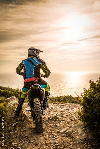 Aluminium Prints Motor sports Enduro bike rider