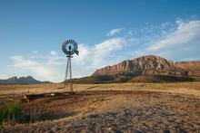 Windmill On Ranch Land
