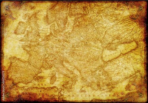 mapa-europy-w-starym-stylu