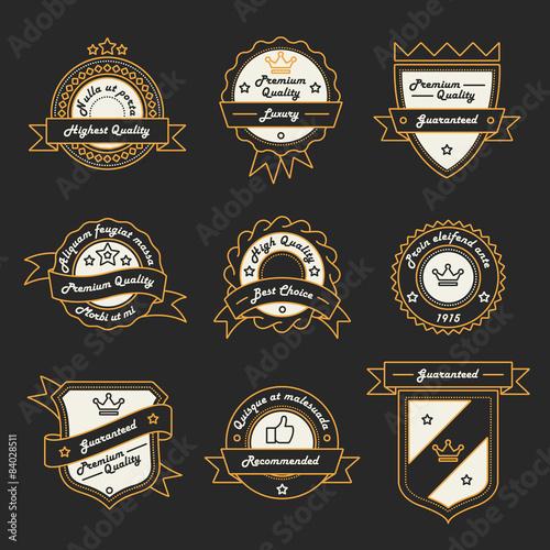 Fototapety, obrazy: Set of Monochrome Label, Logo and Badge Templates