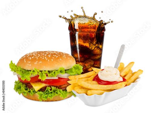 Fotografie, Obraz  fast food meal