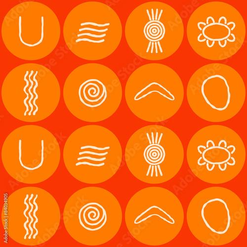 Seamless Background With Symbols Of Australian Aboriginal Art Buy