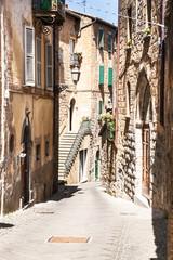 Fototapeta The streets of the old Italian city of Orvieto