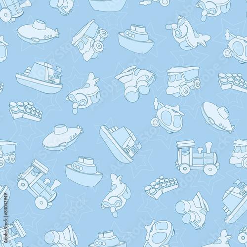 Fotografía  Seamless pattern with toys