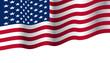 USA flag of a waving vector