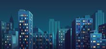 Night Cityscape. Vector Illust...