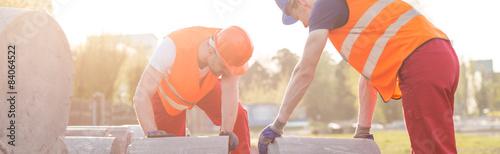 Heavy concrete blocks