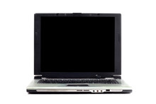 Old Laptop On White Background