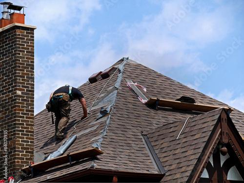 Carta da parati roof repair