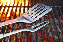 Hot Charcoal Grill With BBQ Tools