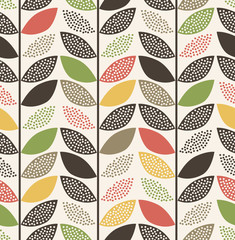 Fototapetaseamless leaf pattern background