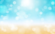 summer beach background illustration