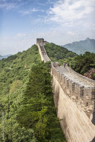 Great wall of China - view from wall