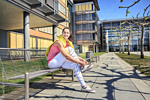 Fototapety, obrazy: jogging woman