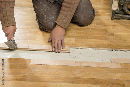 Fixing Wooden Floor Buy This Stock Photo And Explore Similar