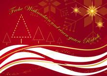 Grusskarte Für Weihnachten Mi...