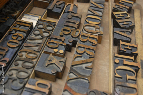Fotografie, Obraz  Wood type for letterpress