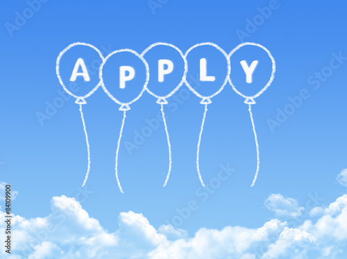 Cloud shaped as apply Message Poster