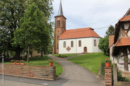 Eglise alsacienne, village de Hunspach France Alsace #84122908