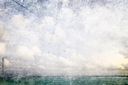 La pose en embrasure Mur grunge tropical beach