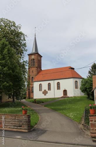 Eglise alsacienne, village de Hunspach France Alsace #84122982