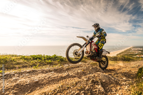 Photo sur Toile Motorise Enduro bike rider
