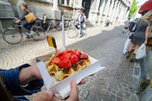 Belgium Waffle With Chocolate ...