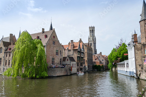 In de dag Brugge Rozenhoedkaai in Bruges