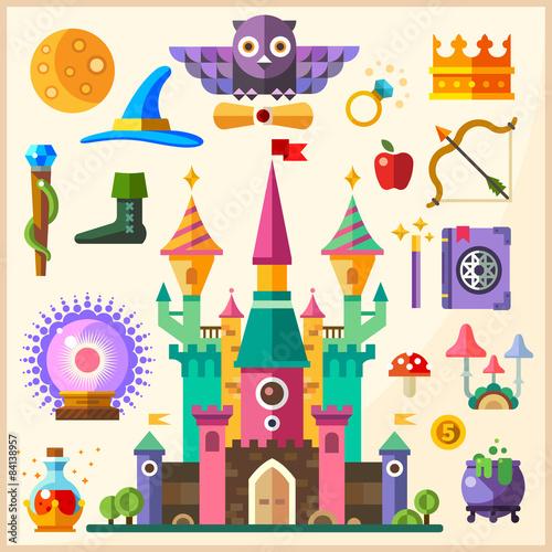 Tuinposter Purper Magic and fairy tale
