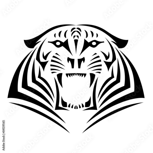 Tatouage Tigre Tribal Buy This Stock Illustration And Explore