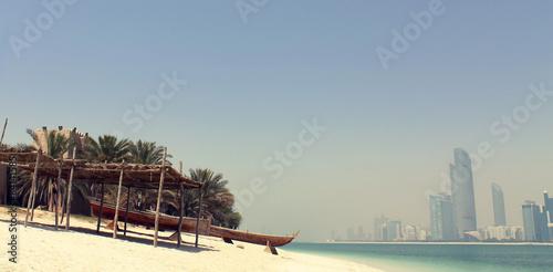 Fotobehang Midden Oosten Abu Dhabi beach