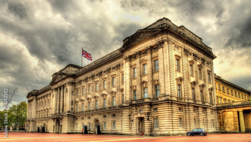 View of Buckingham Palace in London - Great Britain Canvas Print