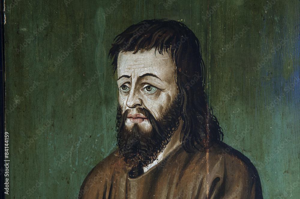 Porträtgemälde des hl. Niklaus von Flüe, Schweiz