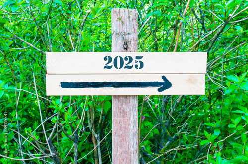 Poster  YEAR 2025  Directional sign