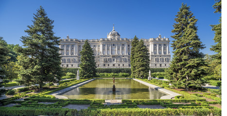 Sabatini Gardens with Royal Palace,Madrid