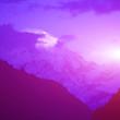 mountain peak in the Annapurna ridge at sunset, Himalayas, Nepal