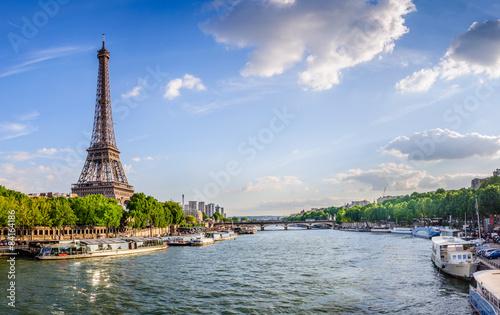 Foto op Aluminium Eiffeltoren Tour Eiffel et pont d'Iéna