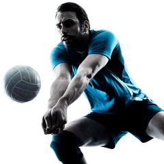 Obraz na Szkle Siatkówka man volleyball silhouette