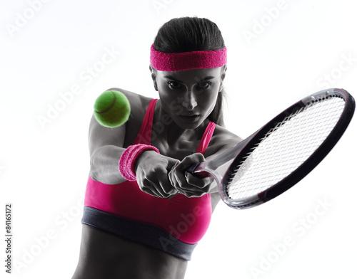 woman tennis player portrait silhouette Tableau sur Toile