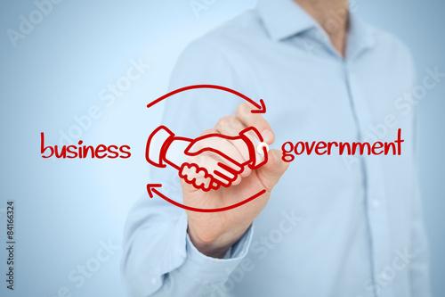 Business to government B2G Fototapeta