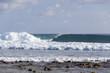 Maldives coast waves