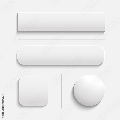 Canvastavla Buttons White