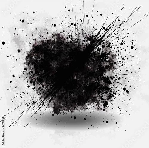cloud explosion dirt / grunge style Fototapete