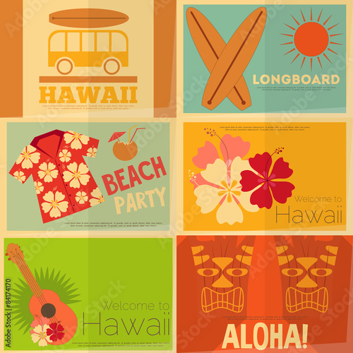 plakaty-hawaii-w-stylu-retro