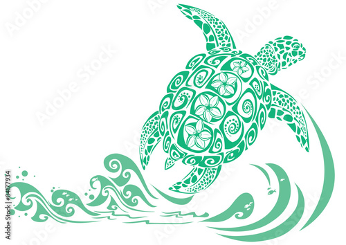 Fotografie, Obraz  Geen turtle