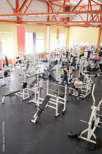 Fotobehang Fitness Interior of a fitness