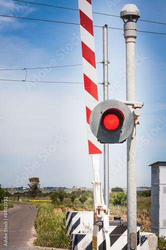 Fotografia, Obraz  red traffic light crossing level