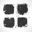 four black stroke backgrounds